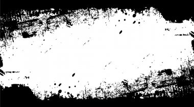 Black Dirty Grunge Texture Isolated on White Background