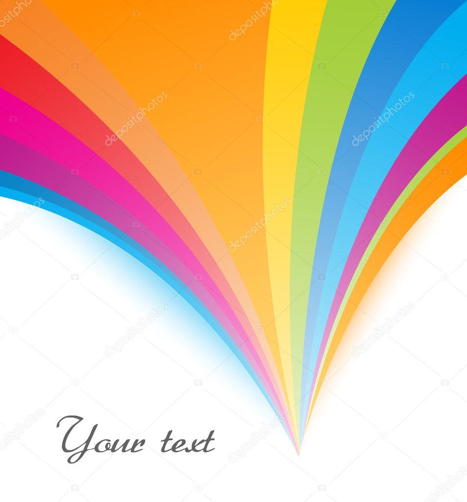 spreading rainbow color u2014 stock vector baavli 7583923