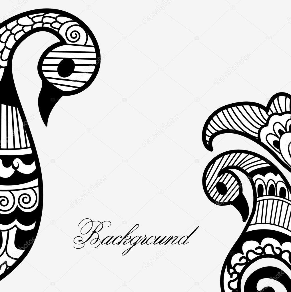 Henna Art Vector Background Stock Vector C Baavli 7584030