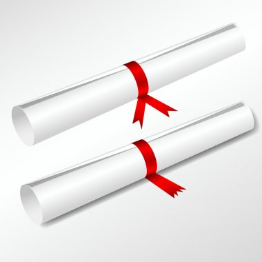 Scroll Degree Tied with Red Ribbon