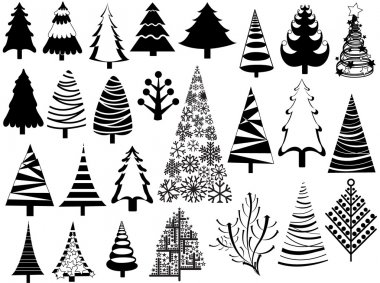 Set of Christmas Tree Icons