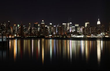 Midtown (West Side) Manhattan at night