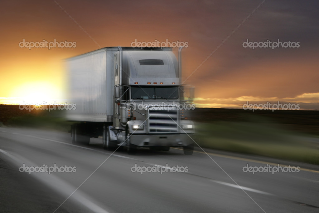 Truck on highway