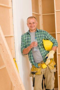 Handyman mature professional diy home improvement