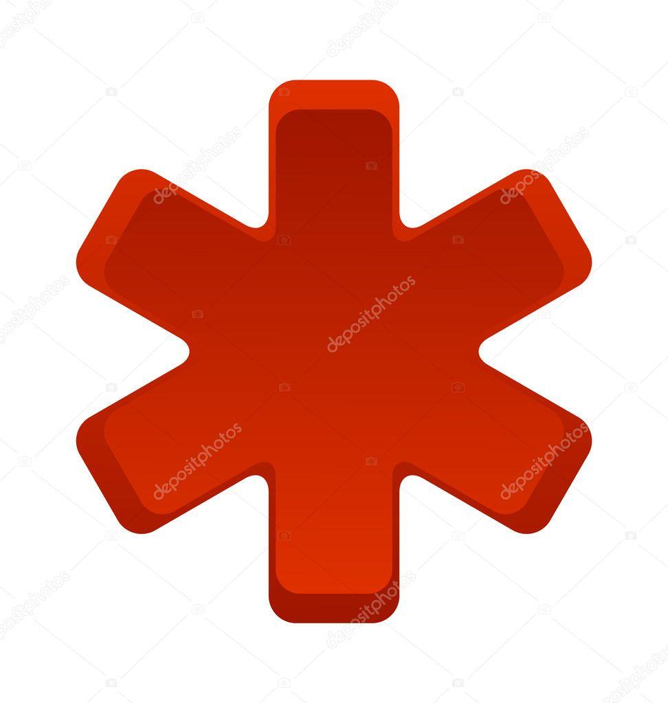 Sanitäter symbol  Krankenhaus Sanitäter Symbol rote Farbe isoliert — Stockvektor ...