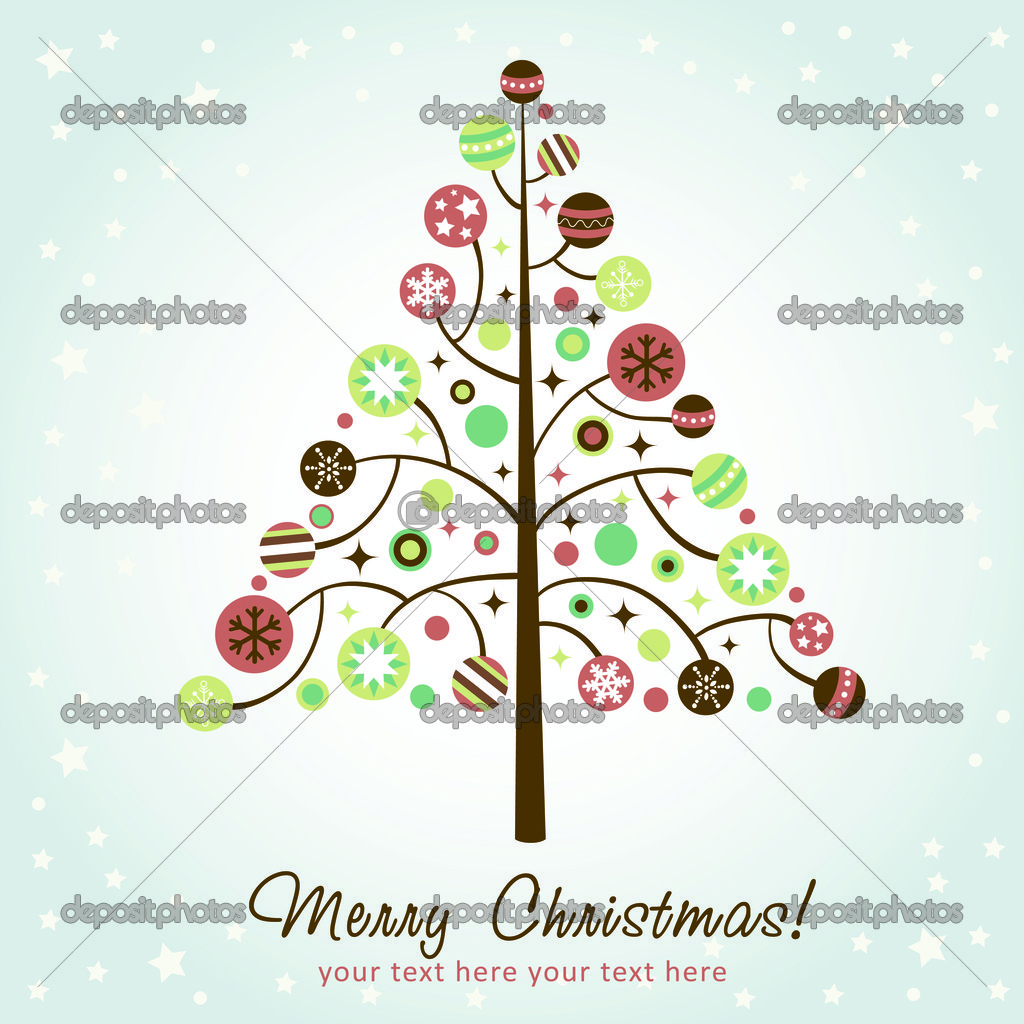 Stylized design Christmas tree