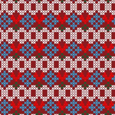 Folklore seamless pattern