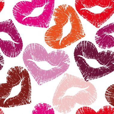 Print of lips, kiss