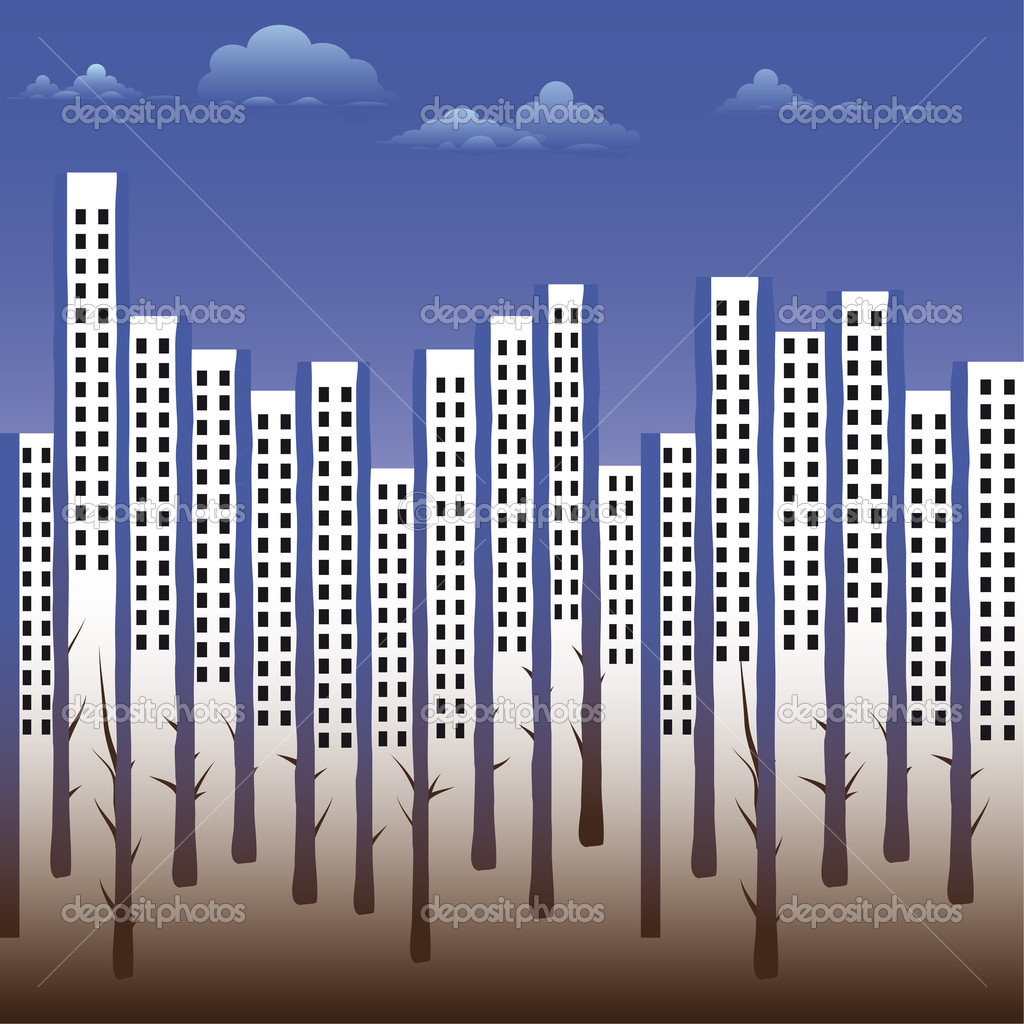 Seamless vector background with urban street