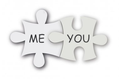 Jigsaw puzzle as love symbol.
