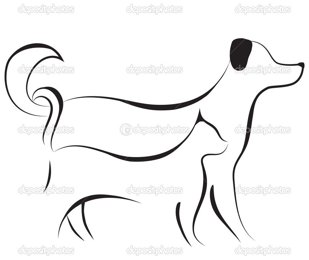 Cat And Dog Sketch Vector Stock Vector C Svetap 7548190