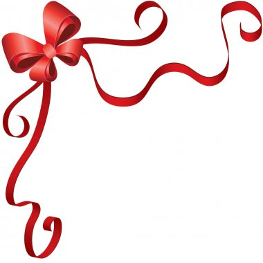 Greeting card template with ribbon and bow