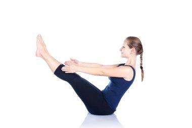 Yoga paripurna navasana pose
