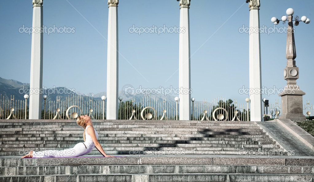 Urban Yoga bhujangasana cobra pose
