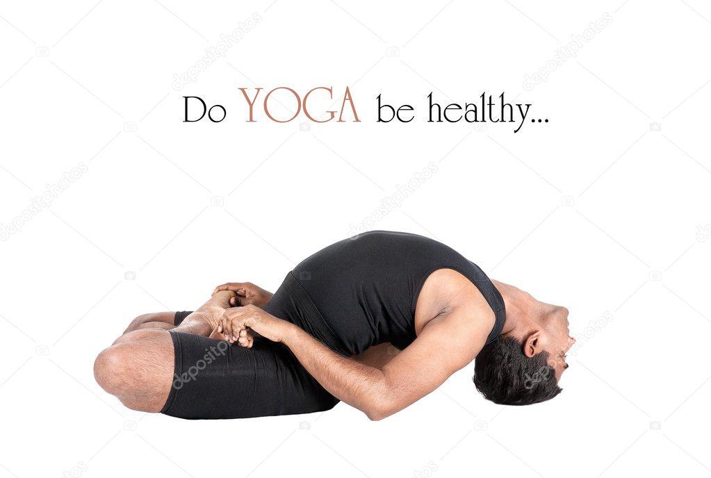 pez matsyasana yoga pose — Fotos de Stock © byheaven #7813739