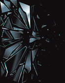 rozbité sklo černá 1