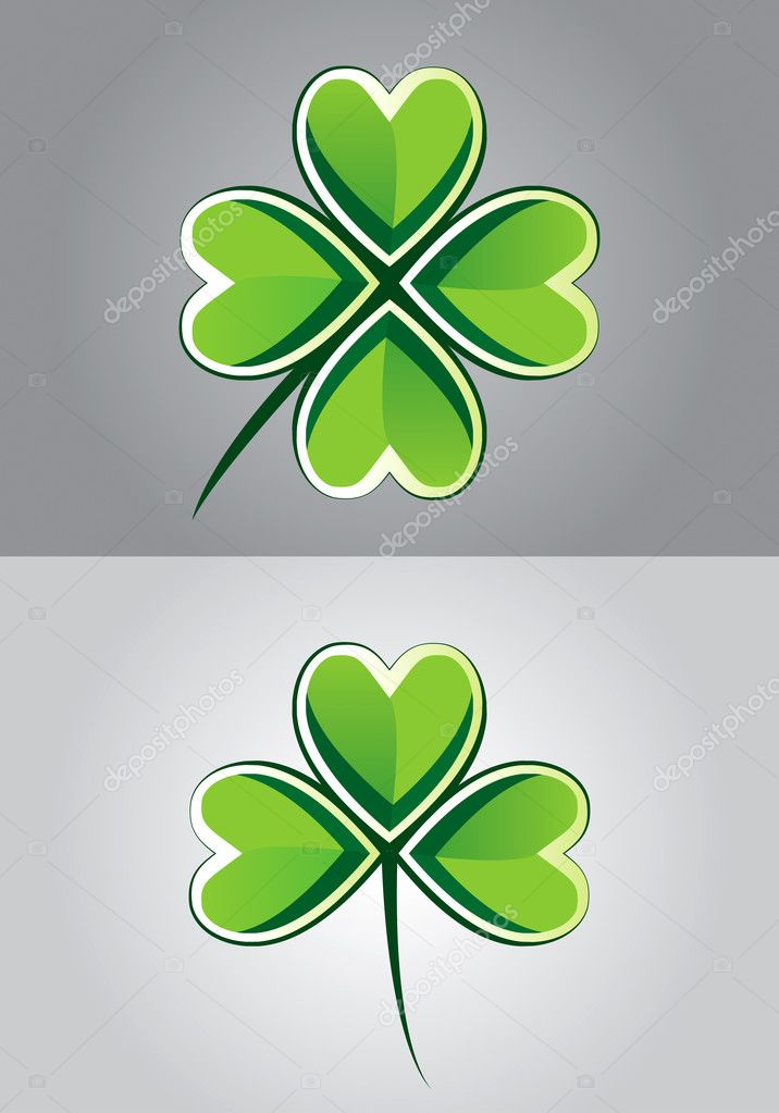 clover drawing stock vector 7336167