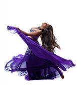 Schönheit Mädchen Tanz in traditioneller arabischer Tracht