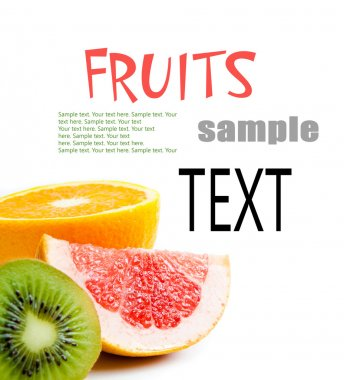 Sample text with tropical fruits