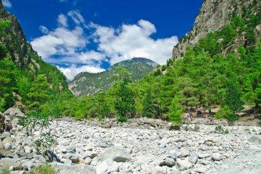 Samaria Gorge. Greece, Crete, White Mountains
