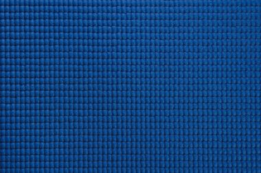 Closeup shot of blue yoga mat