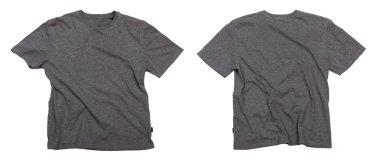 Blank grey t-shirts.