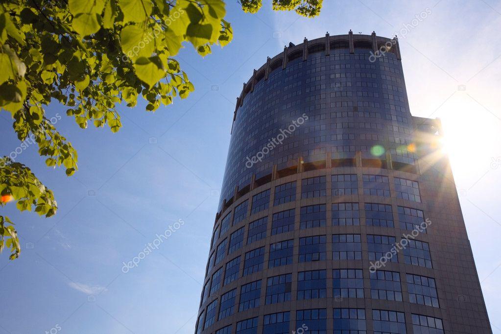 skyscraper baranch and sun stock photo ultraone 7387757