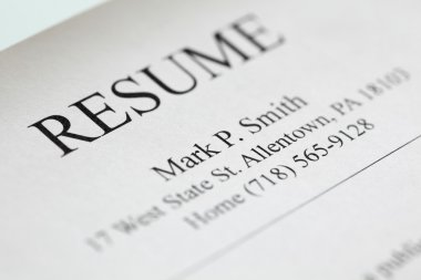 Resume title page.