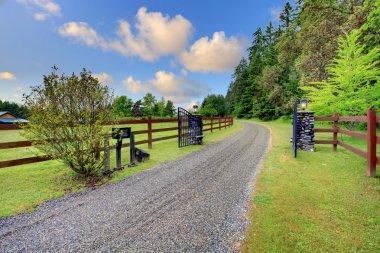 Grand gates at the horse ranch