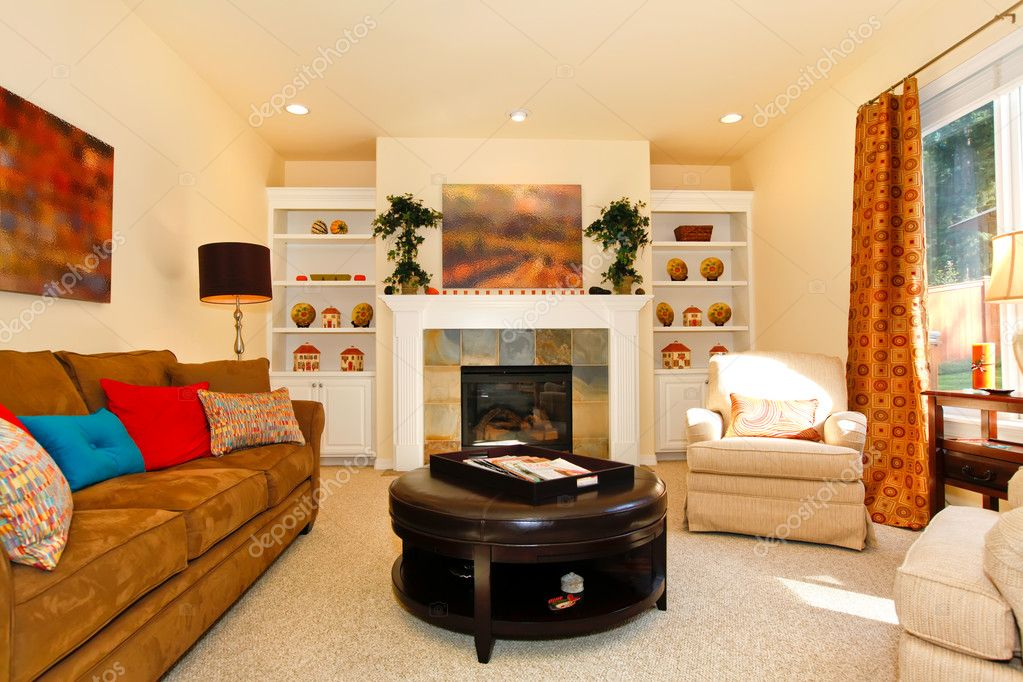 Cozy Furnished Living Room With Sofa And Fireplace U2014 Photo By Iriana88w Part 48
