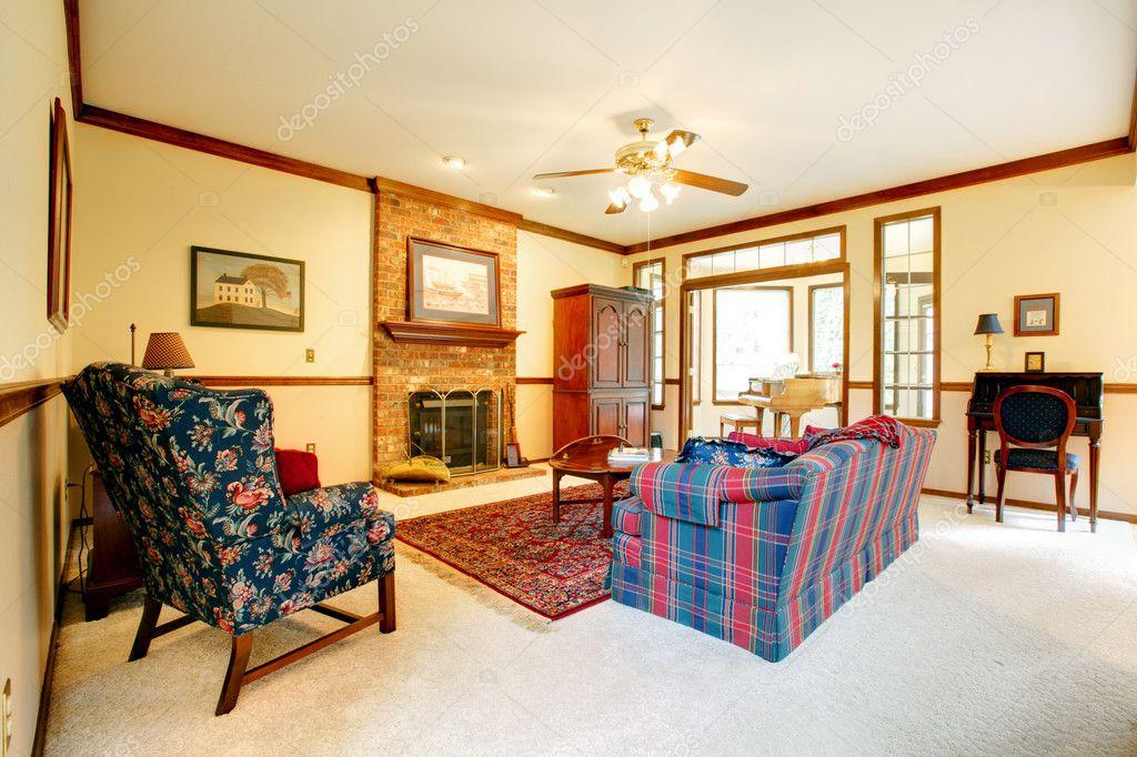 soggiorno in vecchio stile inglese — Foto Stock © iriana88w #7652347