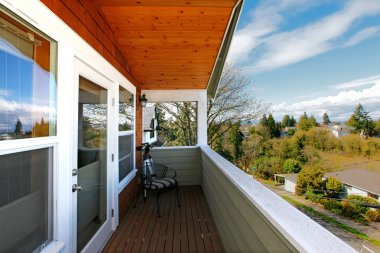 View from the balcony of the spring neighboorhood near Seattle.