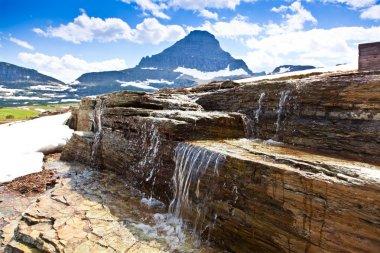 Melting Snow Waterfall