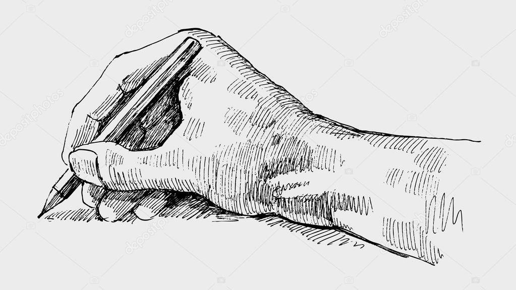 u00e9crit de la main  u2014 image vectorielle bioraven  u00a9  7347148