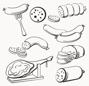 Meat elements set