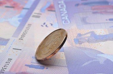 Close-up Canadian money