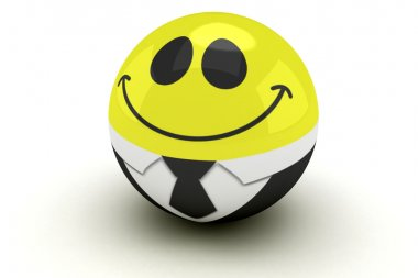Isolated glossy 3d standard smiling smiley