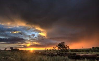 Prairie Sunset Saskatchewan Canada