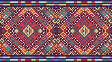 Ukrainian ethnic seamless ornament, #74, vector