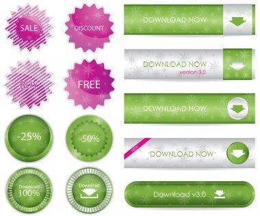 Website download buttons