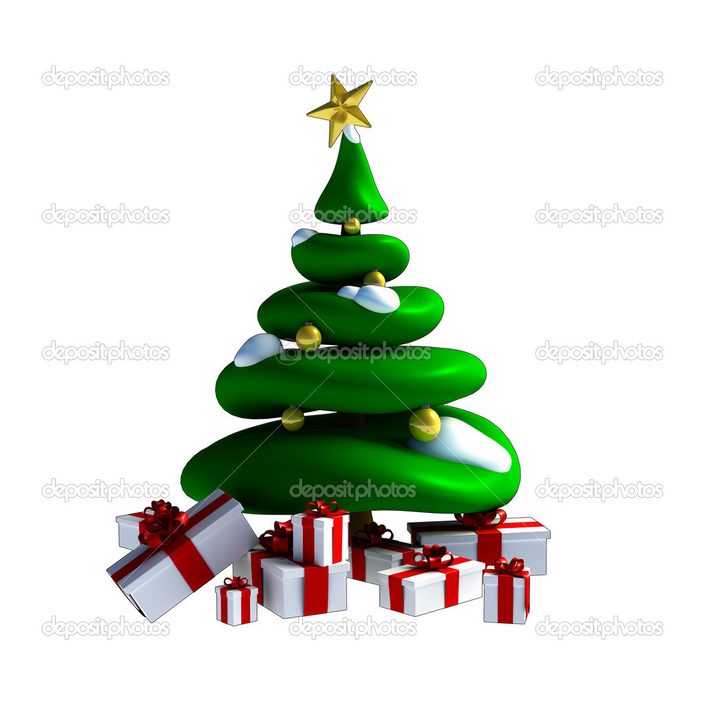 3D rbol de Navidad Foto de stock jronn 7124235
