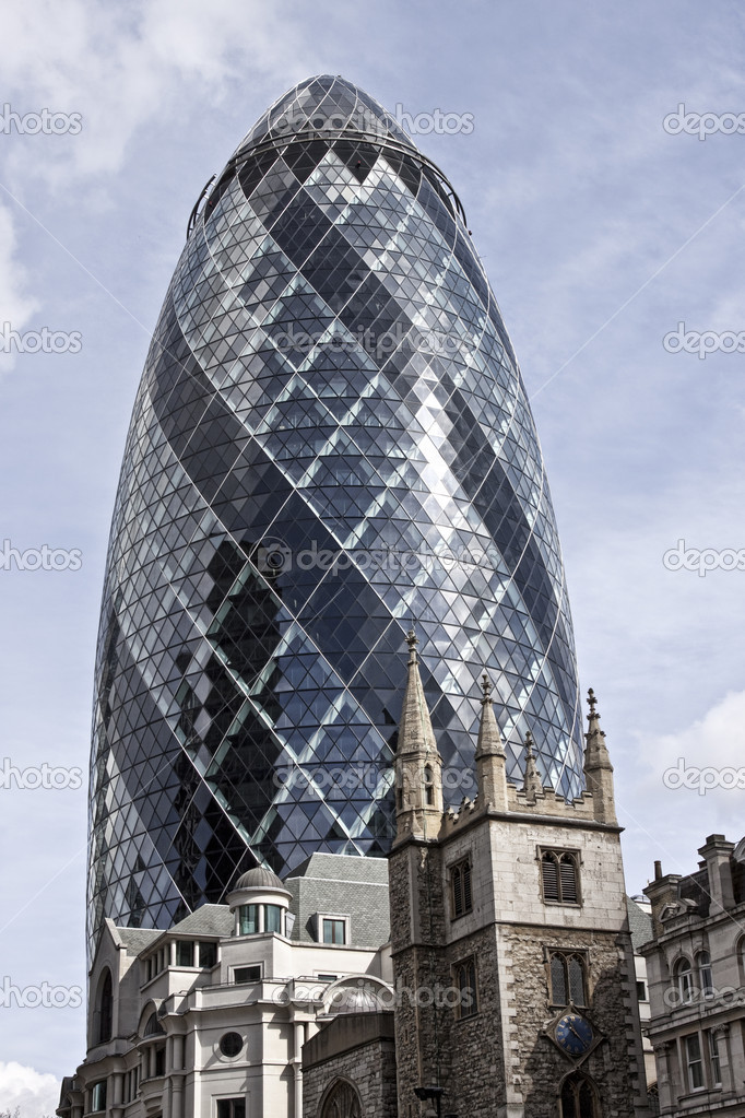 london swiss re building the gherkin u2014 stock photo
