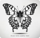 Photo Butterfly hand drawing. Vector
