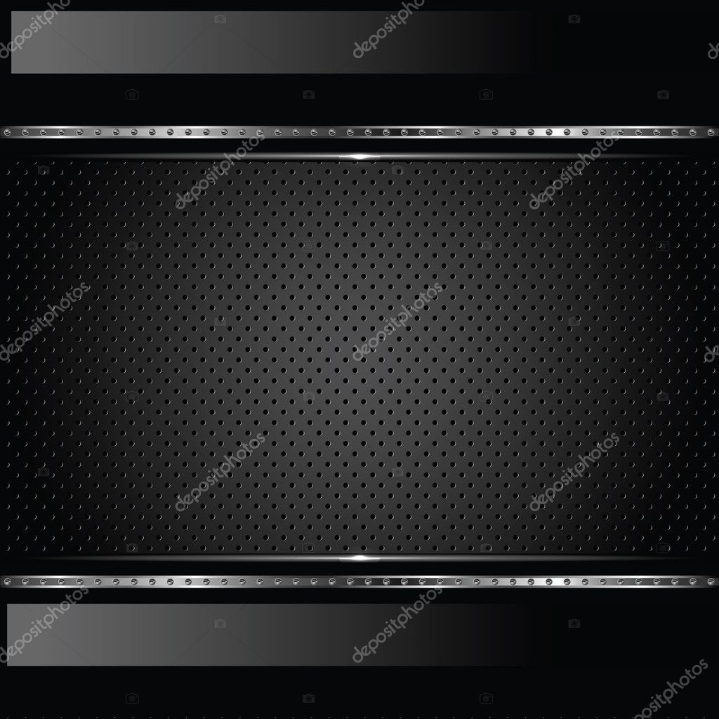Abstract metal background with bolts