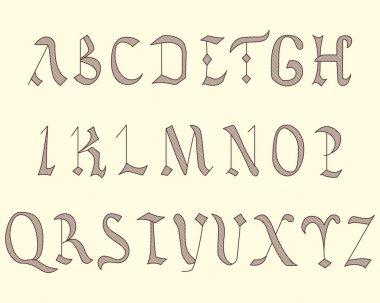Alphabet Vatican in eighth century style