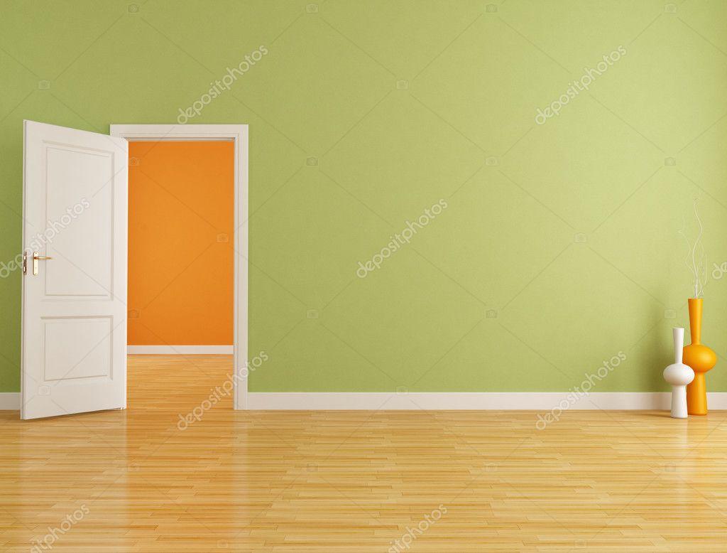 red and orange empty interior stock photo 6829821