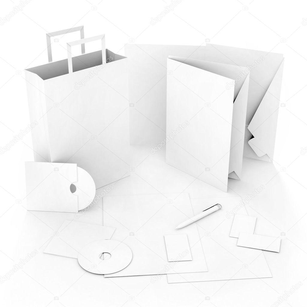 Editable corporate Identity template — Stock Photo ...