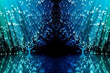 Fiber optic concept.
