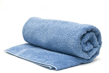 Blue towel for the bathroom