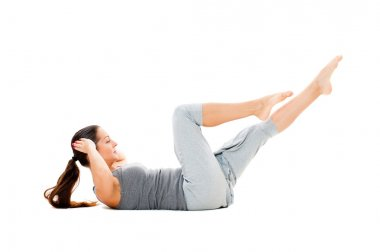 Doing strength exercises for abdominal muscles